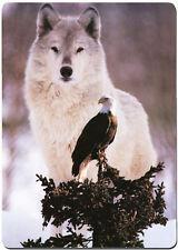 Wolf and Eagle fridge magnet.