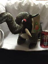 "SUGAR LOAF STUFFED ELEPHANT Animal w Tags 18"" NEW!f All New Material POLY FIBER"