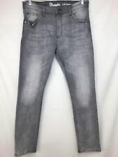 Mens Wrangler Slim Tapered 34x32 Gray Stretch Jeans $59