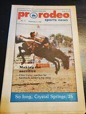 Pro Rodeo Sports News 1987 Lane Frost Clint Corey