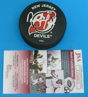 Dave Andreychuk SIGNED OFFICIAL HOCKEY PUCK ~ NJ DEVILS ~ JSA CC66813