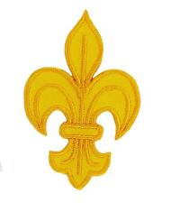 patch Ecusson Brodé thermocollant fleur de lys JAUNE royaliste  louis xvi