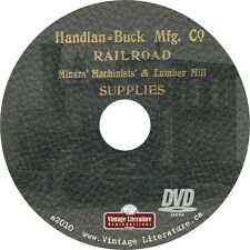 1907 Handlan Buck Railroad Supplies Catalog { Lanterns Baggage Handling } on DVD