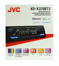 JVC 1 DIN  In-Dash Digital Media Receiver w/ Bluetooth & Alexa - KD-X370BTS