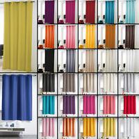Essentiel Plain Single Curtain Panel with Plastic Eyelets