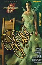 JENNIFER LAWRENCE - Autogrammkarte - Autograph Autogramm Hunger Games Clippings