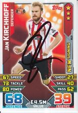 JAN KIRCHHOFF HAND SIGNED SUNDERLAND MATCH ATTAX CARD 15/16.