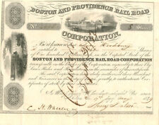 Boston and Providence Railroad Corporation Issued to Levi Woodbury - Stock Certi