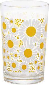 ADERIA Glassware Retro Medium Cup 8 Hanazakari 1865 Flower Tumbler 200ml JAPAN