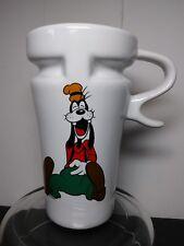 Disney Goofy dog travel mug white ceramic High Wave 12 oz cup w/lid