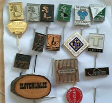 SLOVENIA LOT PIN BADGE folklore Ljubljana TAM TRUCK SAVA KRANJ CELJE ADVERTISE