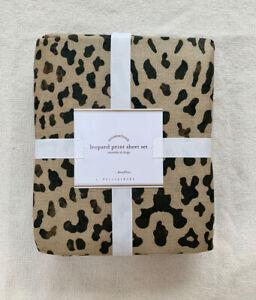 NEW Pottery Barn Leopard Sheet Set Queen