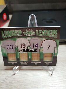 2021 Leaf Lumber Walker Tony Gwynn Galarraga Biggio Lumber Leaders #4/4