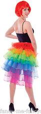 Ladies Long Back Rainbow Burlesque Festival Dance Fancy Dress Costume Tutu Skirt
