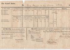 1818 U.S. Army document signed Paymaster Charles B. Tallmadge -- light artillery