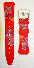 cinturino rosso Warner Bros Tom & Jerry ansa 16 mm nuovo