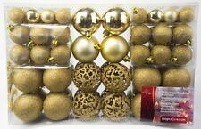100er Set Weihnachts und Christbaumkugeln in Gold