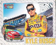 KYLE BUSCH M & M'S 8X10 CARD ~ 2009 ~ KYLE'S STATS, TEAM & FOUNDATION ~FREE SHIP