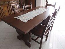 Tavolo in rovere con 6 sedie