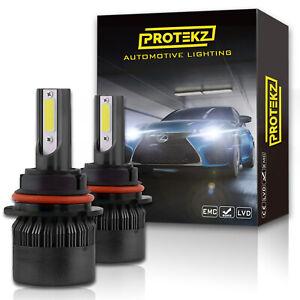 H4 9003 LED Headlight Kit High & Low CREE COB 2 Bulbs Fan 800W 120000LM 6500K