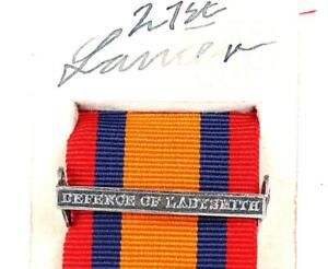 QSA QUEENS SOUTH AFRICA MEDAL RIBBON BAR CLASP DEFENCE OF LADYSMITH BOER WAR
