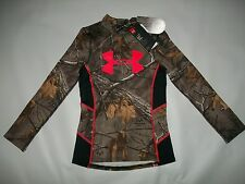 Under Armour ColdGear parfum contrôle TEVO Realtree Camo T-shirt fille SZ