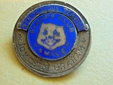 More details for vintage silver enamel badge gloops club smile sheffield star childrens club