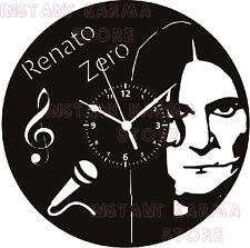 OROLOGIO DA PARETE  - DISCO IN VINILE - IDEA REGALO - MUSICA - RENATO ZERO