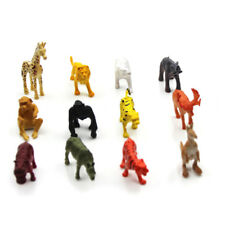 12X Plastic Zoo Safari Figure Jungle Wild Animals Kids Toy Party Bag Filler NEW%