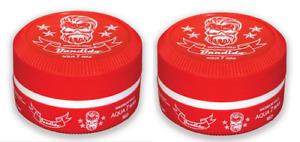 2 x Bandido Aqua Hair Gel Wax Red - 150ml - Maximum Hold Pomade - Strawberry