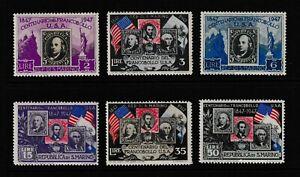 San Marino 1947 The 100th Anniversary of the First American Stamp Full Set - MUH