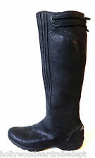 MERRELL CALF boot 10.5 42 uk8 Black leather winter motorcycle shoe shin cycle