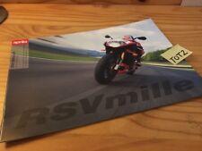 Aprilia RSV Mille + R RSV1000R 1000 moto prospectus brochure prospekt publicité