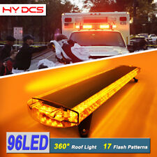50 Inch 96 LED Strobe Lights Tow Truck Roof Emergency Warning Flash Amber Yellow