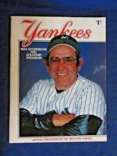 1984 NY Yankees Official Score Book & Souvenir Program. Yogi Berra on the Cover.