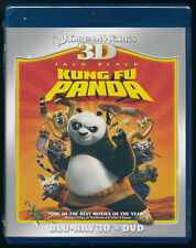 KUNG FU PANDA - 3D BLU-RAY + DVD - 2-DISCS - JACK BLACK - NEW - SHRINK WRAPPED