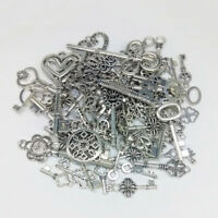 Tibetan Wholesale Vintage Steampunk Mixed Keys Pendants DIY Craft