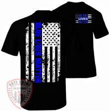 Blue Lives Matter Shirt Thin Blue Line T-Shirt Flag Decal Apparel