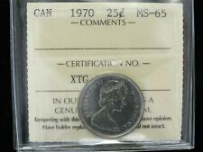 1970 - Canadian 25 Cent - ICCS Graded MS-65