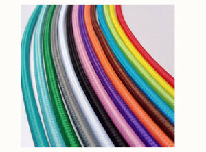 2/3Core Round Vintage industrial Fabric Cable Flex Multi color Braided Lamp Cord
