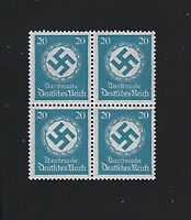 MNH stamp Block / 1934 WWII emblem PF20 / Third Reich Germany From Mint sheet
