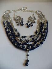 Gemstone Handmade Tibetan Silver Costume Jewellery Sets