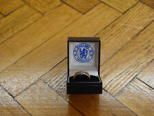 Chelsea Soccer Sterling Silver England CFC Football Band Ring Mens New S T R Y