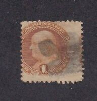 United States stamp #112, used, with grill, SCV $150