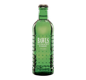 Bawls Guarana Ginger Soda Glass Bottles - 6 BOTTLES - High Caffeine!