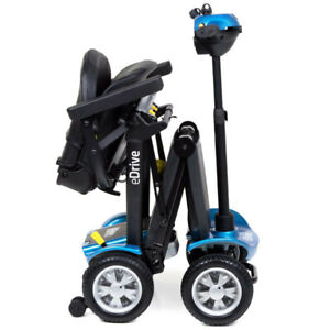Motion Healthcare eDrive Automatic Folding Mobility Scooter with Remote - Blue