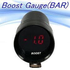 37mm Universal Car Red LED Digital Micro Compact Turbo Boost Gauge Meter Bar