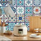 Diy 24pcs Mosaic Tile Stickers Floral Self Adhesive Kitchen Bathroom Home Decor