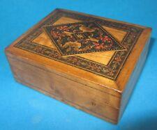Boite à bijoux en bois marqueté avec marqueterie parqueterie Tunbridgeware box