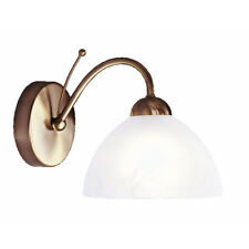 Searchlight 1131-1AB Milanese Antique Brass Wall Light With Alabaster Glass